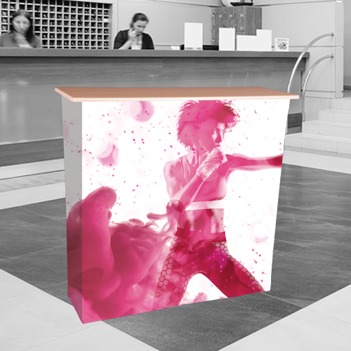 fabric pop up counter for events