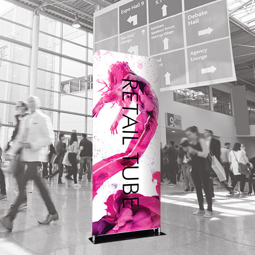 retail tube display for promotional purposes