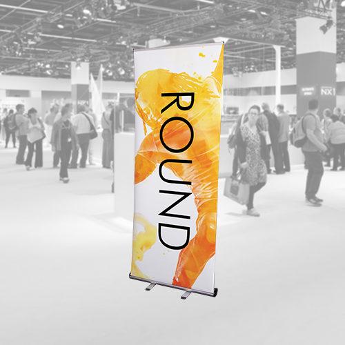 round roller banner