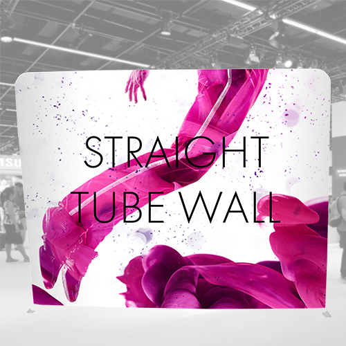 Tube Straight Wall for using as back wall