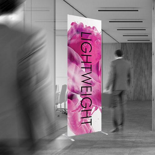 lighweight tube banner for promotions
