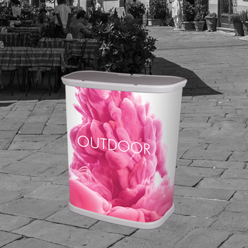 outdoor pvc counter for promotional purposes
