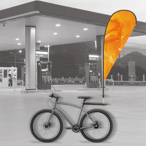 flag bike fitting for advertising purposes