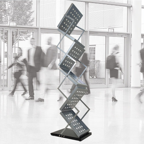Aluminium zig zag brochure holder