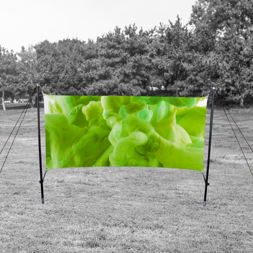 outdoor tension sign banner for outdoor display solution