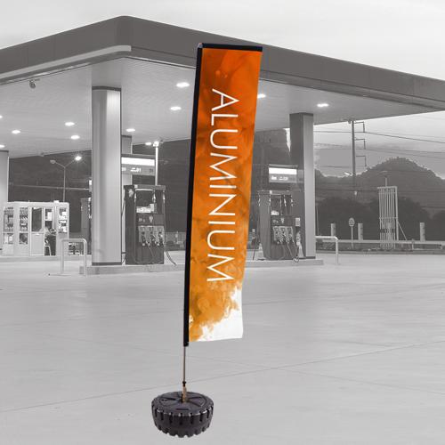 aluminium flag pole for promotional flags