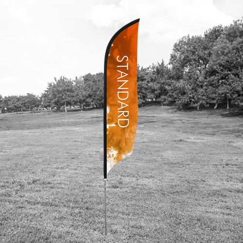 standrd beach flag for promotional purposes