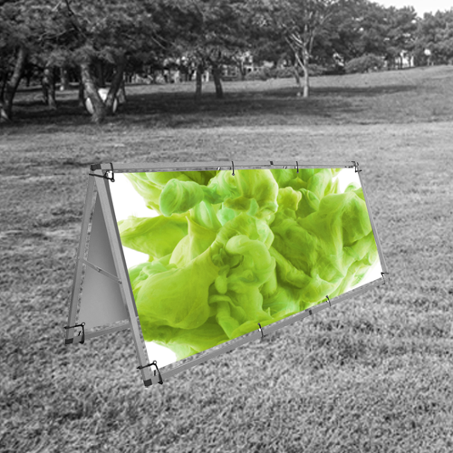 outdoor a banner for marketing purposes