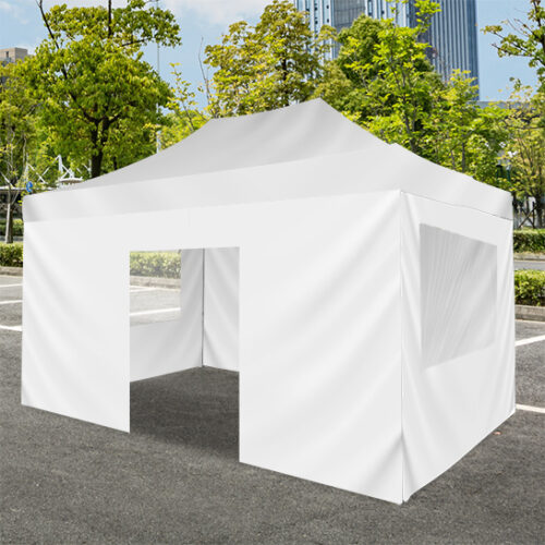 full tent wall with door for promotional use